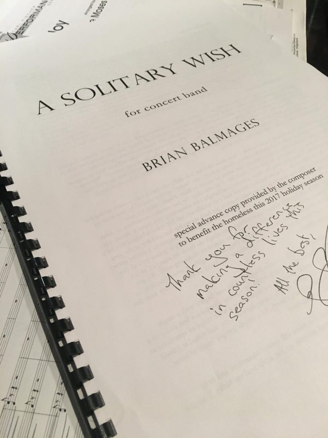 The autographed score to