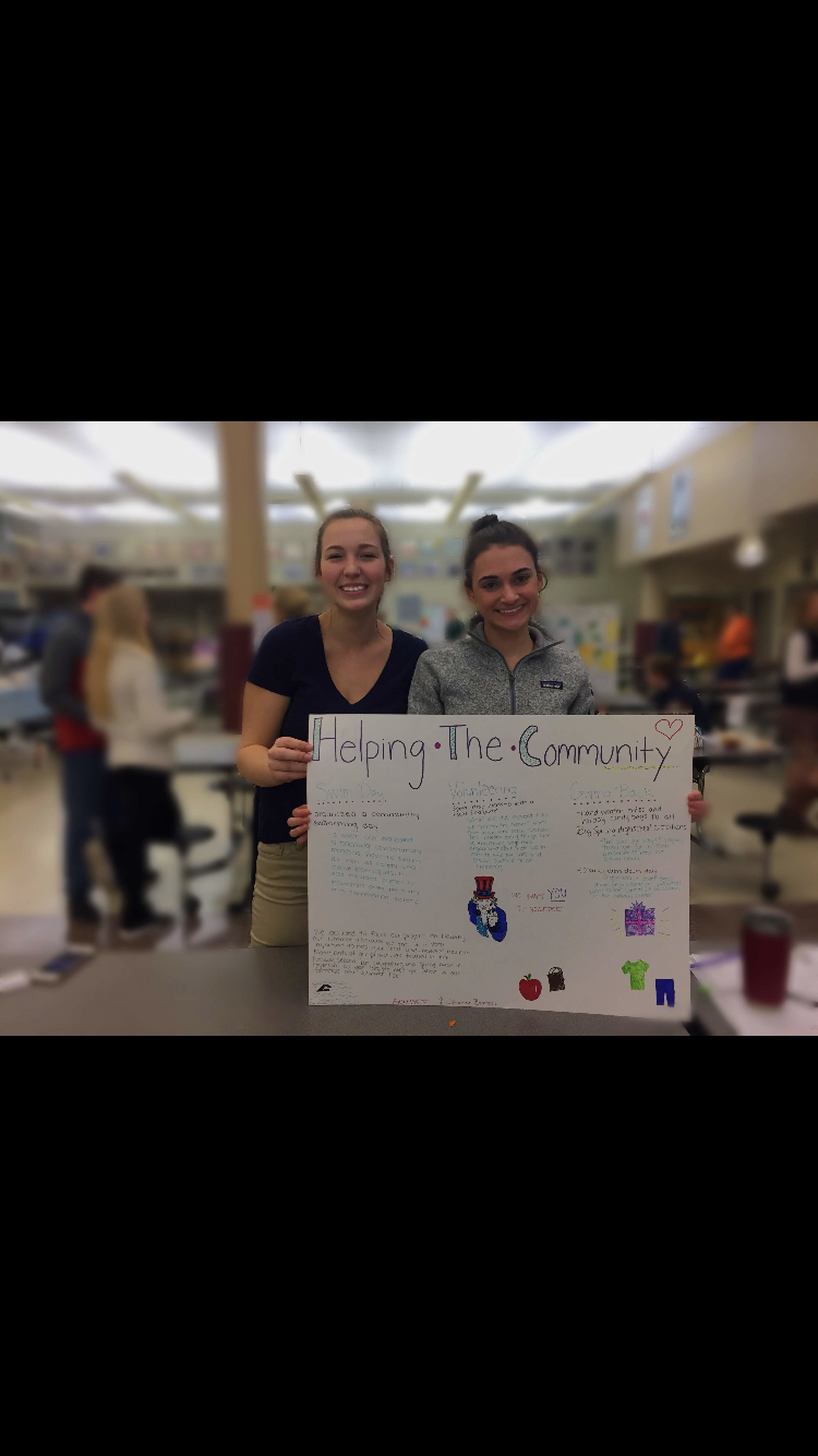 Johanna Burrell and Alexa Walter showcase their project about