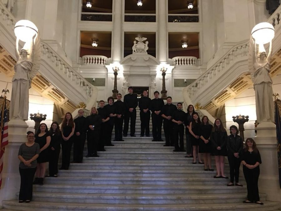 Cantabile occasionally performs outside of school, including the State Capital.
