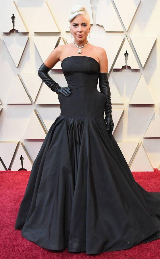 Lady+Gaga+in+her+Hepburn+inspired+dress.+