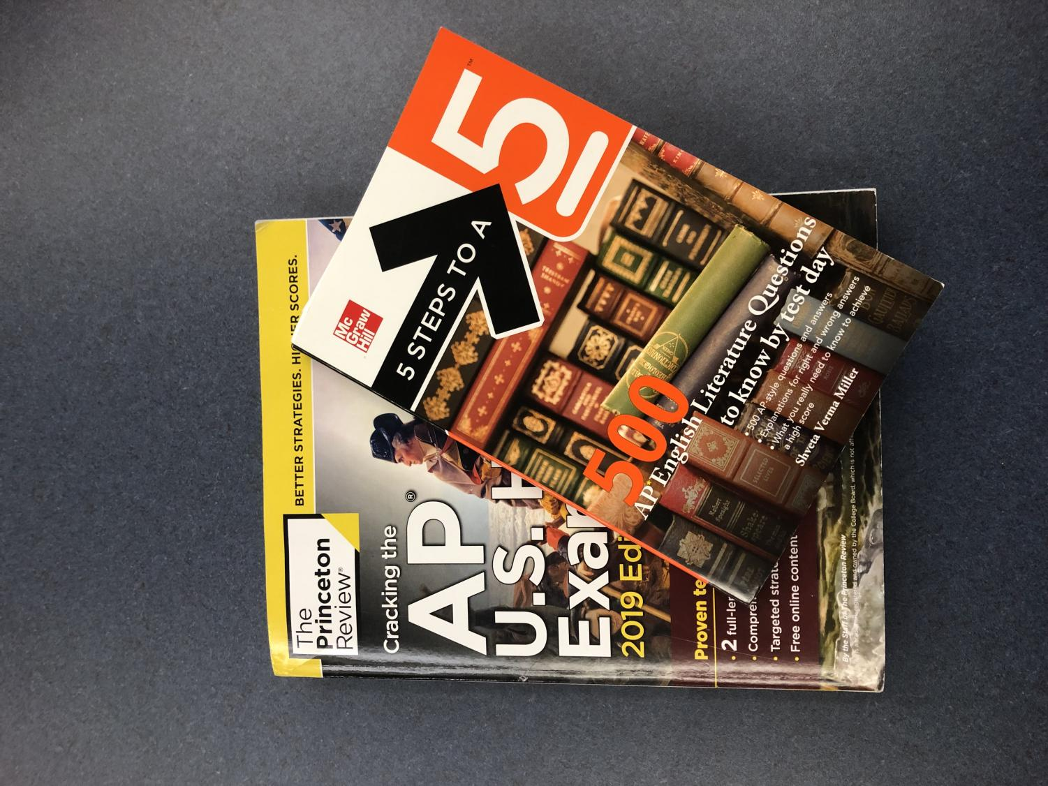 Review books for AP courses are a common sight among those taking. With the course changes these sights might become less common in favor of actual college classes.