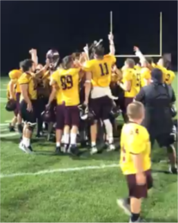 The Big Spring High School football team is celebrating their win. On September 6 the Big Spring football team went against Boiling Springs.