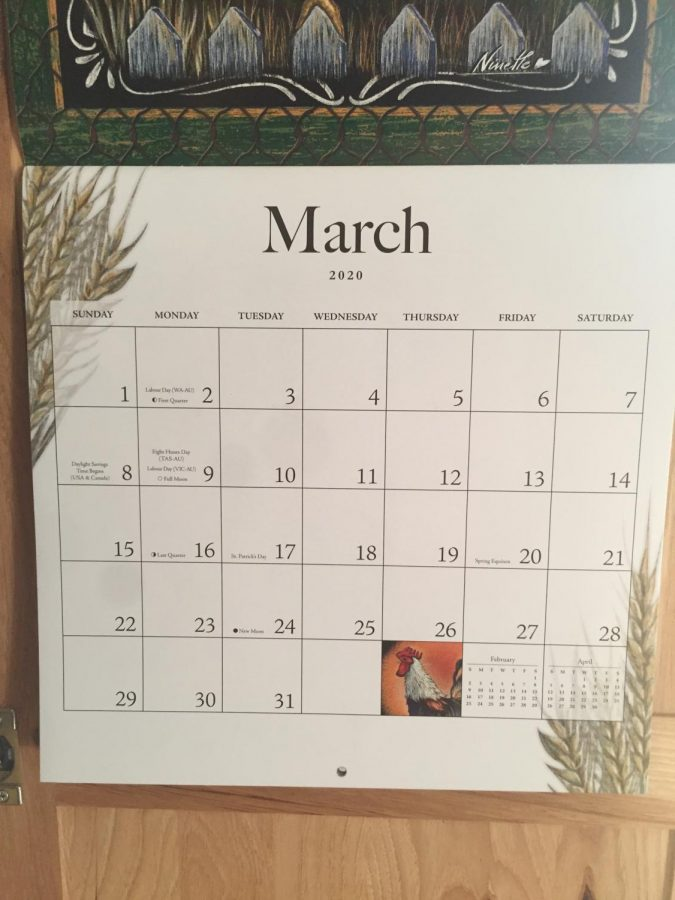 This is a picture of a calendar to maintain a schedule. The calendar is used to make plans and maintain an important date.