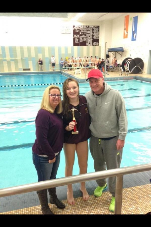 Diving records shattered by sophomore