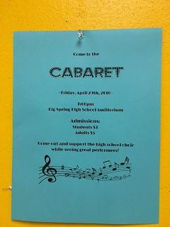 Cabaret makes a splash