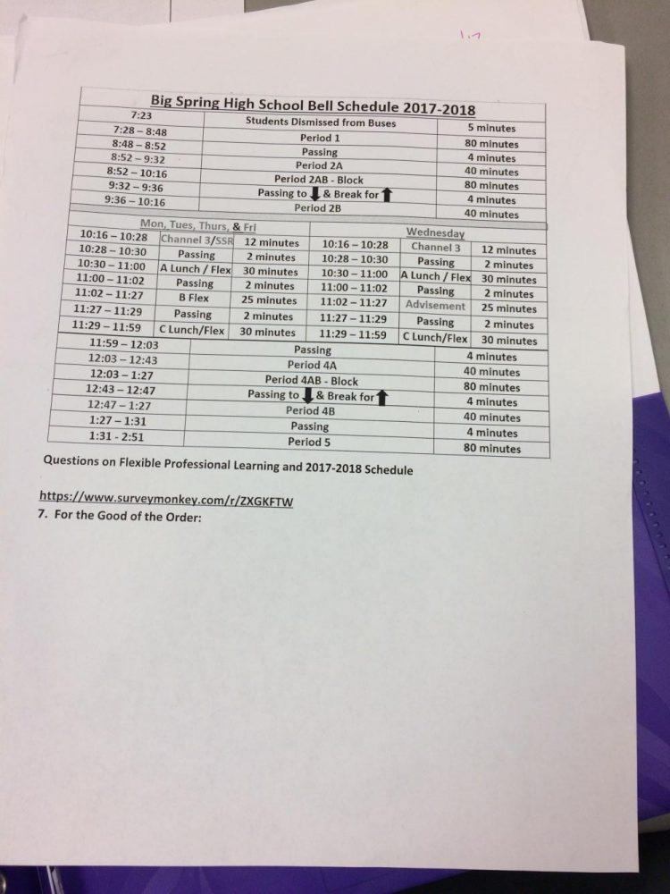 Schedule changes coming next school year