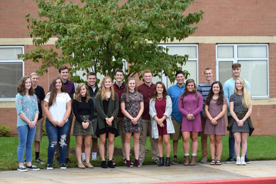 Big Spring high school Homecoming court poses for a picture before Homecoming weekend. This court is chosen annually with representatives from all grades.