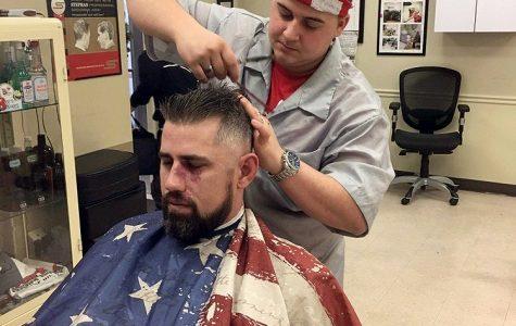 "Senior ""aces"" barber license"