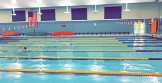 Big Spring High School pool as swimmers are getting ready for their season.