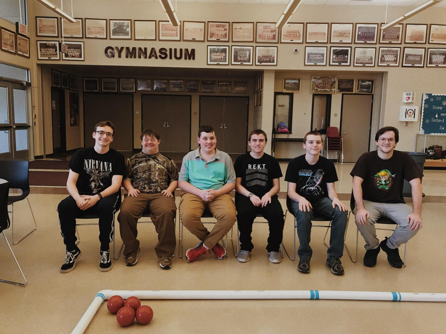 Bocce Ball team takes a break and poses for a team picture. The team will play at their first official match on Jan. 24.