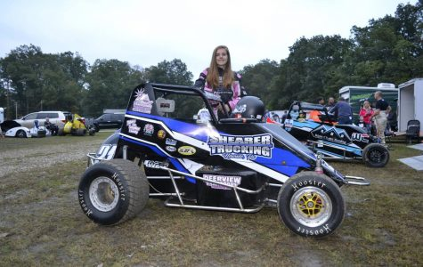 Fast female meets sprint car racing