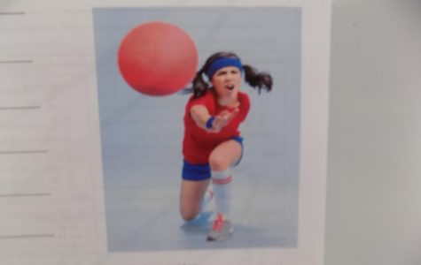 A poster hangs in the halls of the school, showing the dodgeball tournament coming up. The dodgeball tournament will take place on March 7th 11AM.